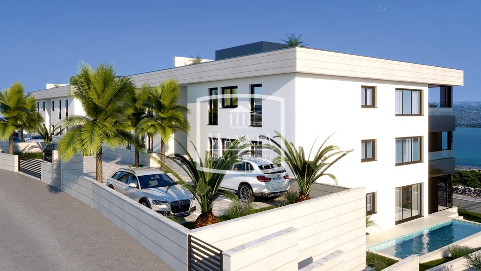 Vinjerac - luxury apartment of 129m2 terrace with a sea view! 340000€