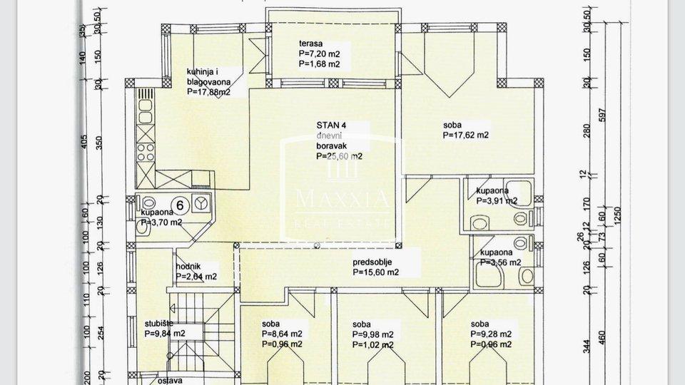Biograd/m - PENTHOUSE 189.22 m2 blizina mora NOVO 330000€